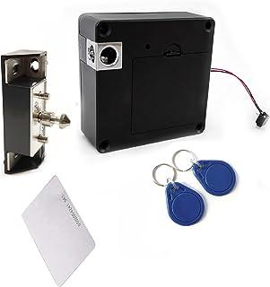 Felimoa 電子ロック 後付け錠 電子キー 引き出し用 開戸用 カギ 鍵穴不要 ロック