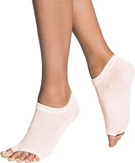 Yoga Socks for Women Non Slip, Toeless Non Skid Sticky Grip Sock - Pilates, Barre, Ballet (Flow)…
