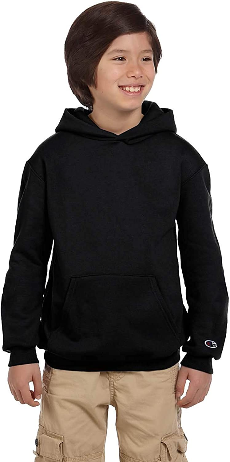 Champion Youth Eco Youth 9 Oz. Pullover Hood, Large, Black