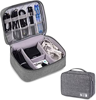 Rubik Electronics Organizer Waterproof Carrying Bag - Travel Gadgets Universal Accessories Storage Case for Charger, Cable...