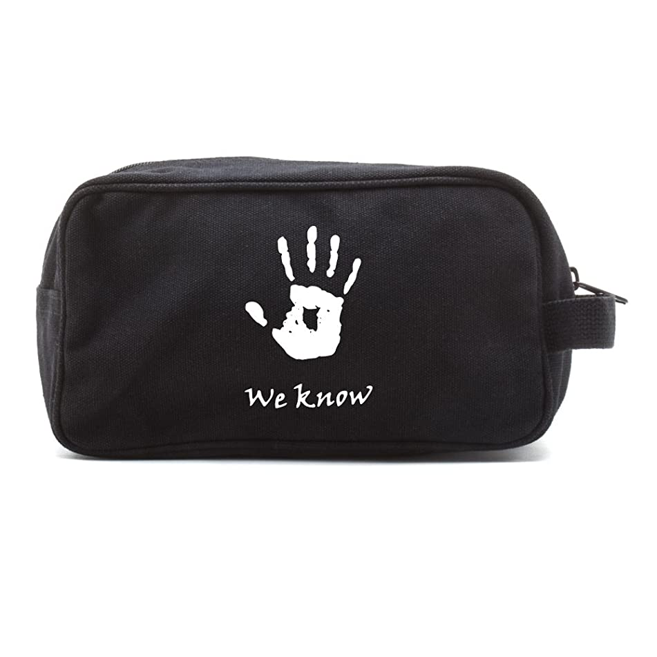 Skyrim We Know Army Canvas Travel Kit Shower Toiletry Bag Case