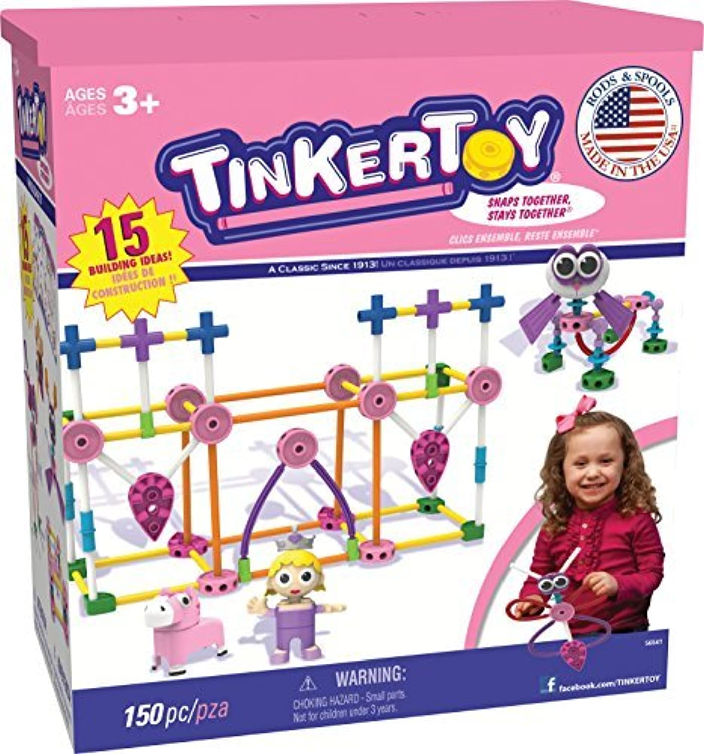 TINKERTOY Building Set  Pink by TINKERTOY