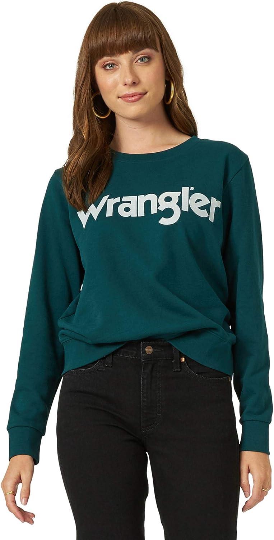 Wrangler Women's Vintage Logo Crew Neck Sweatshirt