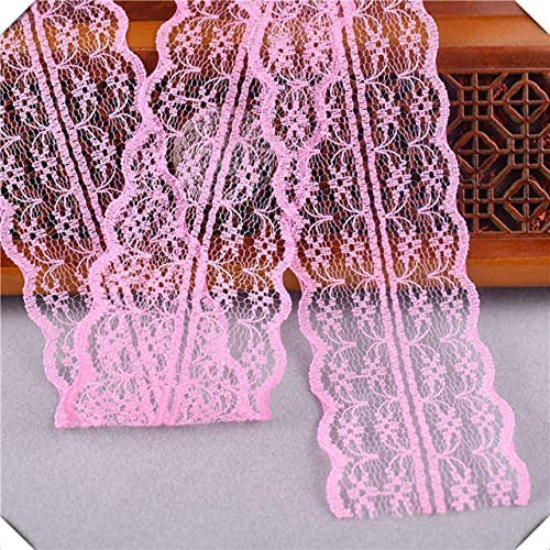 SELCRAFT 10yard White African Popular brand in the world lace Width Year-end gift French Fabric 45MM