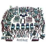 LoKauf 301 Stücke 5cm Kunststoff Mini Figuren Set Armee Soldaten Minifiguren Set Militär Spielzeug Set für Kinder