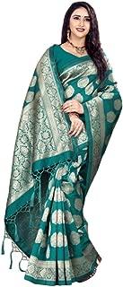 Sarees for Women Banarasi Silk Saree Party Wear Saree 114 Sea Green