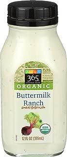 365 Everyday Value, Organic Buttermilk Ranch Dressing, 12 oz