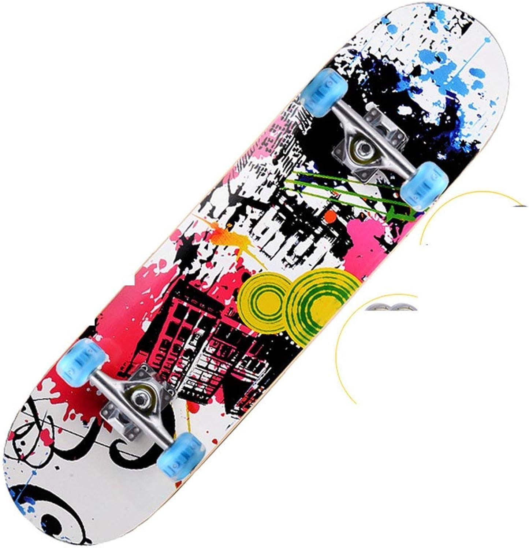 YesDone Erwachsene Skateboard Skateboard mit Vier Rädern Double-Up-Skateboards Brush Street-Skateboard Professionelles Skateboarding Erwachsener B07NQC1XJV  Neue Sorten werden eingeführt