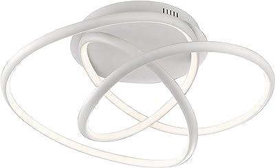 Fischer & Honsel Plafonnier à 1 LED 46 W blanc à intensité variable, diamètre 62,5 x 32 cm
