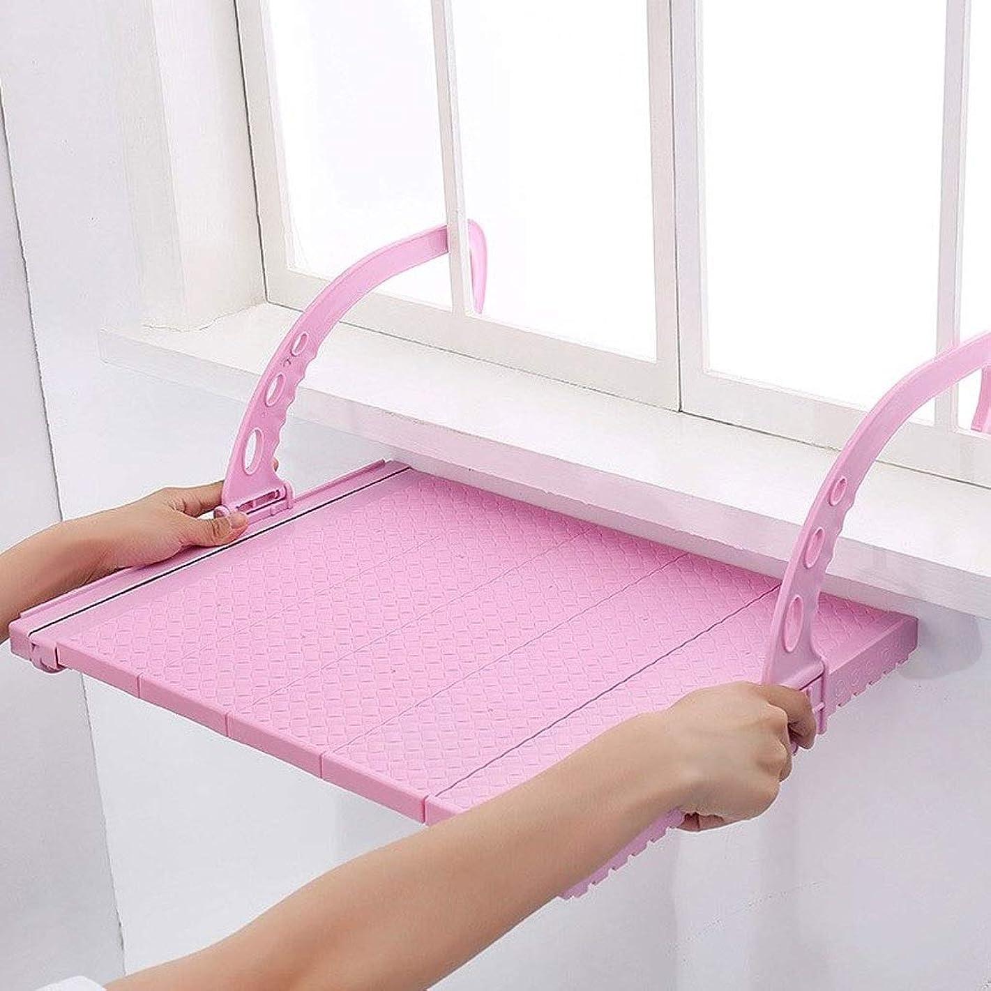 意気消沈した機械的に別にGWM タオル タオルバー、壁掛け式ステンレススチール製バスタオルラック、仕上げ日光浴用ラックハンギングラックアーチファクト格納式衣類 (Color : Pink, Size : 75cmx120cm)