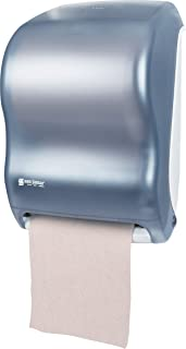 """San Jamar T1300 Classic Tear-N-Dry Electronic Touchless Roll Towel Dispenser, Fits 8"""" Wide and 4"""" Diameter Stub Roll, 11-3/4"""" Width x 16-1/2"""" Height x 9-1/4"""" Depth, Arctic Blue"""