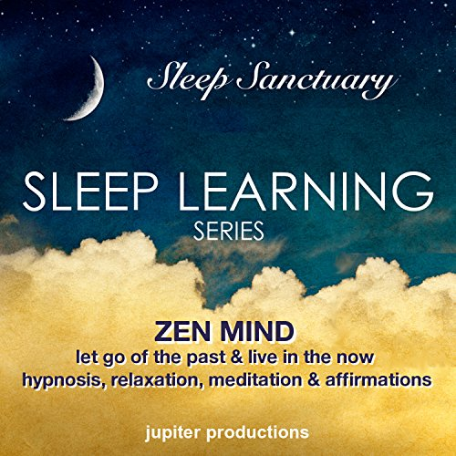 Zen Mind, Let Go Of The Past & Live In The Now: Sleep Learning, Hypnosis, Relaxation, Meditation & Affirmations audiobook cover art
