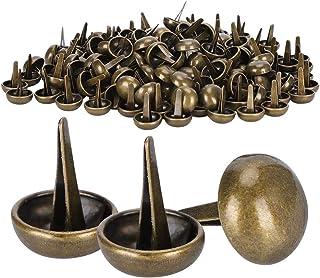 200 pièces pieds plats goujons en forme de champignon pieds en laiton Rivets Bronze bricolage sacs en cuir artisanat acces...