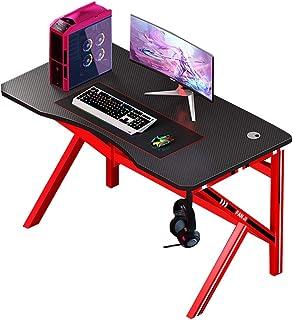 パソコンデスク コンピューターデスクホームオフィス研究ワークステーションゲームテーブルデスクトップパソコンデスクシンプルデスク (Color : Red, Size : 100*60*75cm)