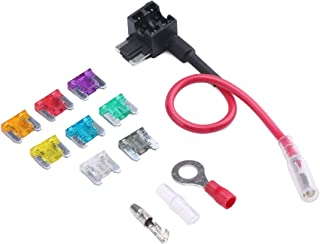 ATO ATC ATM Add-a-Circuit Kit Auto Low Profile Mini Fuse TAP Holder with 8 PCS Fuses Assortment (2A, 3A, 5A, 10A, 15A, 20A, 25A, 30A) for Car Truck SUV Adding circuits DIY