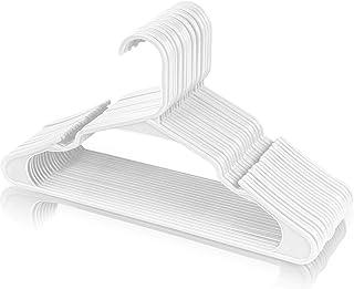 Utopia Home - (Paquet de 50) - Cintres en plastique résistant (42 cm de large) - Cintres en feutre de haute qualité pour g...