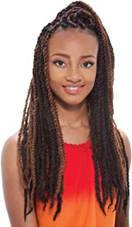 Afro Marley Braiding Hair #1B Off Black 4 Packs by Janet Collection