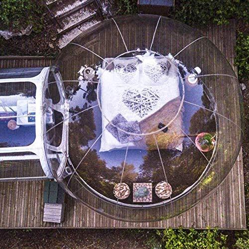 KUYT Tienda Inflable de La Burbuja de La Casa con Transparente Panorama de 360 ° Cúpula y 2 m túnel Adecuado para Acampar al Aire Libre Patio Trasero, Gratis Eléctrico Inflador