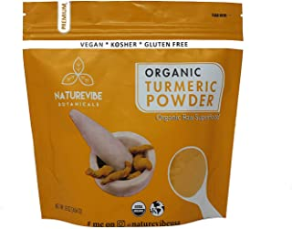Premium Quality Organic Turmeric Root Powder with Curcumin (1lb), Gluten-Free, Non-GMO & Keto Friendly (16 ...
