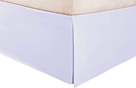 King Size 1-PC Finest Quality Egyptian Cotton Luxury Bed Skirt/Dust Ruffle Bed Skirt with 12-Inches Drop Length White Solid (King)