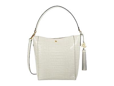 LAUREN Ralph Lauren Adley 25 Crossbody (Vanilla) Handbags
