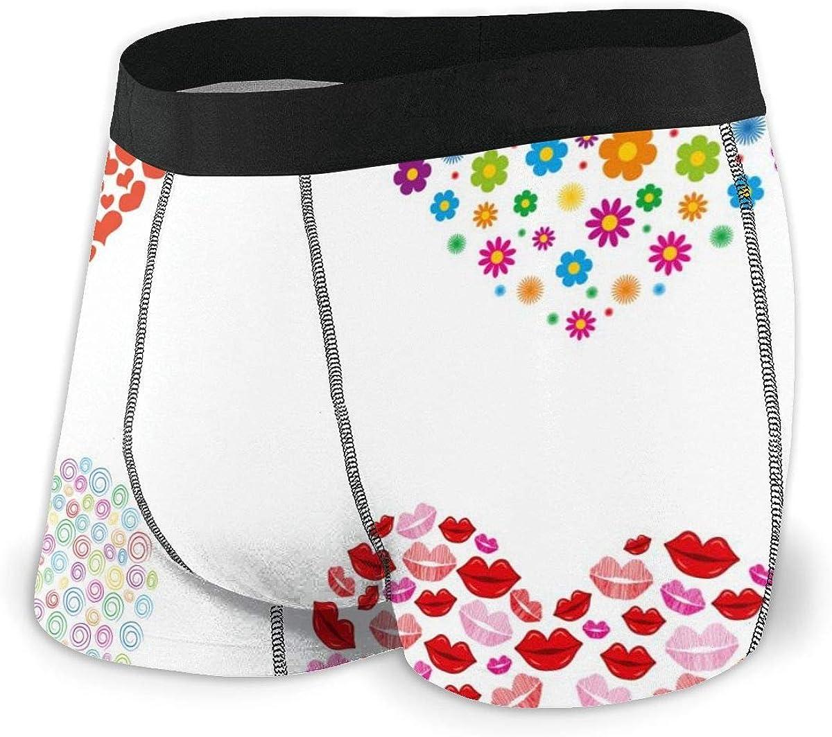 Mens Boxer Briefs Marvellous Hearts Love Boys Trunks Underwear Short Leg Breathable Man