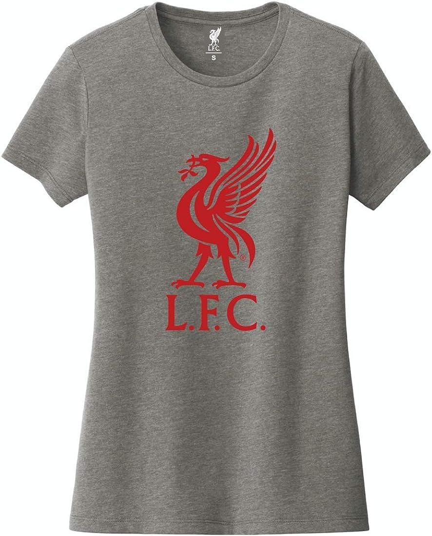 Liverpool FC Womens Grey Liverbird T-Shirt