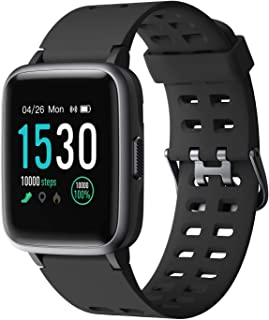 armo Reloj inteligente Fitness Pulsera Tracker, reloj deportivo con podómetro, monitor de pulso, impermeable, IP68, pantalla táctil completa, reloj inteligente para Android iOS