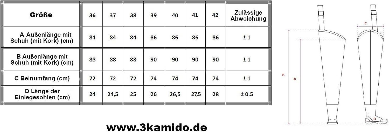3Kamido/® WATSTIEFEL f/ür Jugendliche Junior Anglerhose Fischerhose Tragetasche Jugend