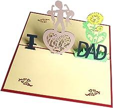 Bllomsem Tarjeta del día del padre, 3D Pop Up Tarjeta de cumpleaños para papá, el mejor regalo para el cumpleaños de papá y el Día del padre