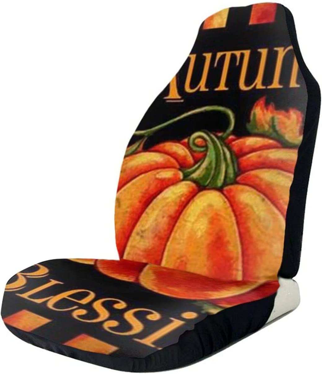 Excellent NGLKJUS Pumpkin Autumn NEW before selling ☆ Blessings Car Seat S Front Printed Covers