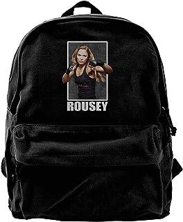 Mochila de lona Ronda Rousey UFC 190 Rowdy Mochila de gimnasio, senderismo, portátil, bolsa de hombro para hombres y mujeres