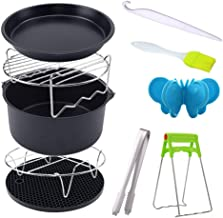 Puomue Acessórios para fritadeira a ar, 10 acessórios para fritadeira a ar de 20 cm, utensílios de cozinha de pizza para ...