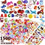 Stickers for Kids, ZesGood 3D Puffy Stickers More Than 1500, 25 Pack Fashion Stickers...