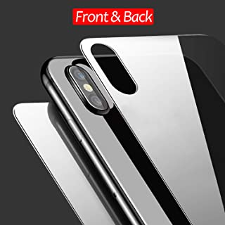 JingooBon Front and Back Screen Protector Compatible with iPhone Xs / iPhone X [2-Pack], Tempered Glass [3D Touch] Front and Rear Anti-Fingerprint/Scratch Compatible with iPhoneXs / iPhoneX (5.8 inch)