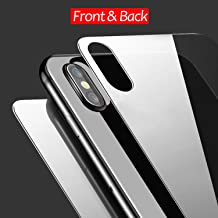 JingooBon Front and Back Screen Protector Compatible with iPhone Xs / iPhone X, Tempered Glass [3D Touch] Front and Rear Anti-Fingerprint/Scratch Compatible with iPhoneXs / iPhoneX (5.8 inch)