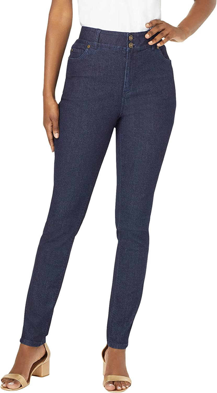 Jessica London Women's Plus Size Tummy-Control Skinny Jean