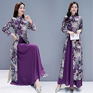 New Spring And Summer Chinese Traditional Plus Size Long Cheongsam Cheongsam S-4Xl