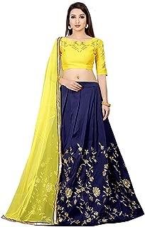 Indian Clothing Store Lovender Fashion Women's Tapeta Silk Embroidered Lehenga Choli (1002_Freesize_Multicolored)
