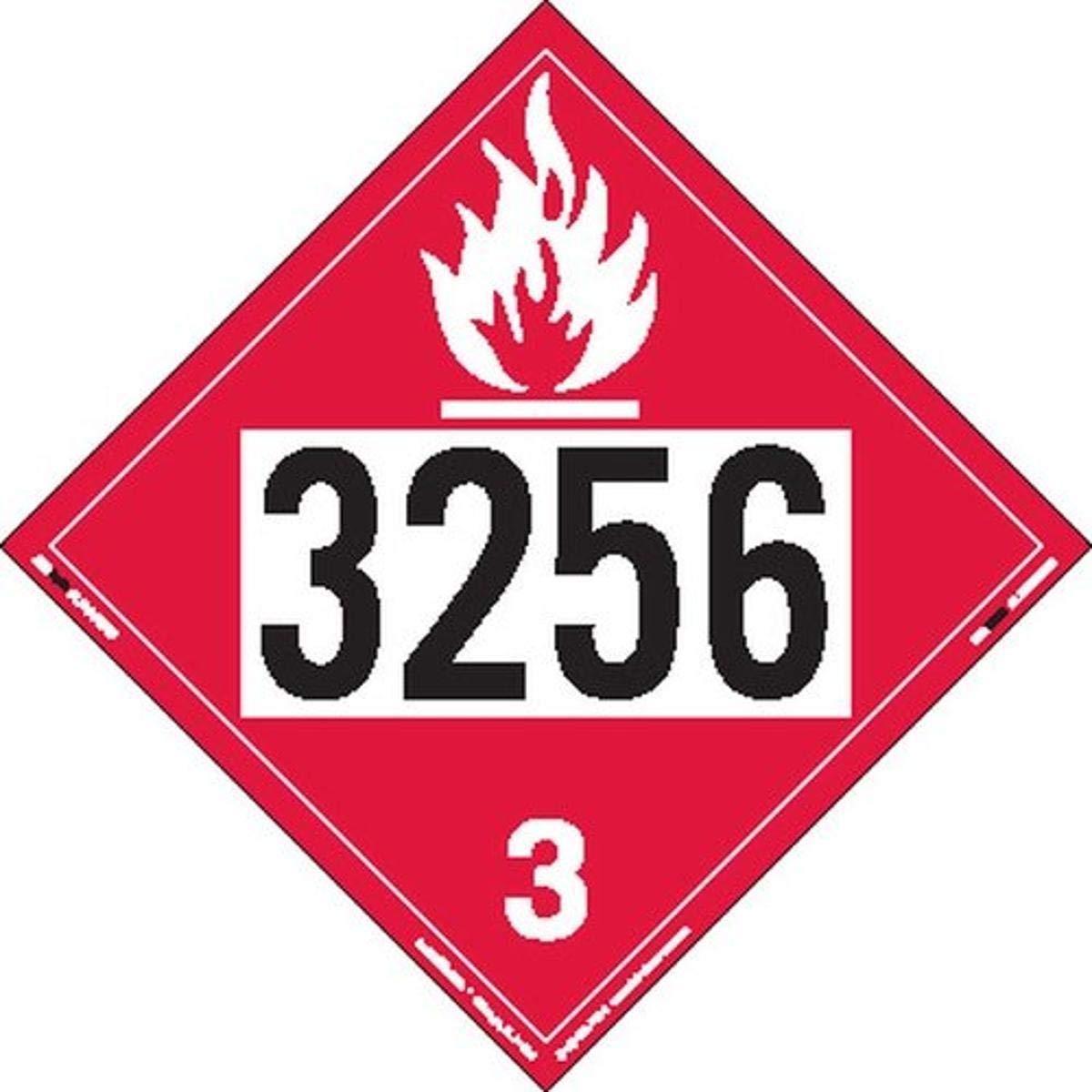 Labelmaster ZT2-3256 UN 35% OFF 3256 Max 72% OFF Flammable Ta Hazmat Placard Liquid