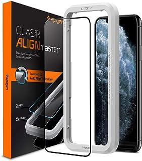 """Spigen, Vetro Temperato iPhone 11 PRO Max (6.5""""), Align Master, Copertura Totale, Installazione Semplice con Cornice di Al..."""