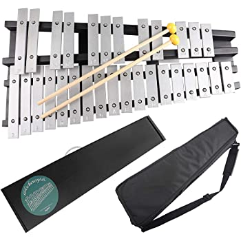 Mr.Power Foldable Glockenspiel Xylophone Vibraphone Percussion Instrument 30NOTES