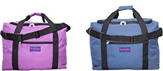 Boardingblue Frontier & Spirit Airlines 2 PCS Personal Item Under Seat Bag (1Navy+1Purple)2Day-Shiping