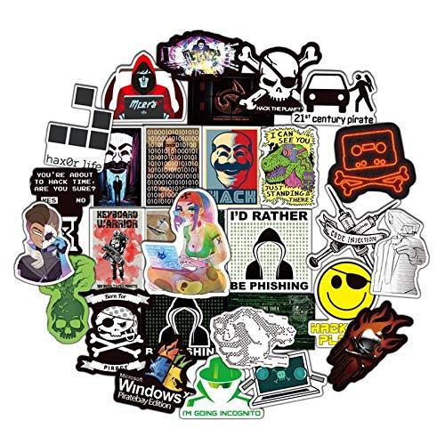 Programming Geek Hacker Developer Language Laptop Motorcycle Skateboard Waterproof Diy Stickers 50Pcs