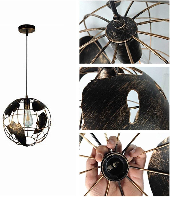 Zhang Ying ZY Retro geometrischer Kugel-Kronleuchter, dekorative Deckenleuchte aus Schmiedeeisen für Wohnzimmer, Schlafzimmer, Balkon, Café, Bar, Restaurant-Innenbeleuchtung