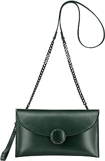 S-ZONE Women Genuine Leather Crossbody Bag Clutch Purses Handbag Shoulder Bag