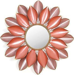 Creative Rétro Texture Forme De Lotus Mur Mural en Fer en Trois Dimensions Miroir Décoratif Salon Porche Magasin De Vêteme...