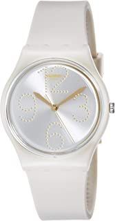 Swatch Women's Mother of Pearl Dial Silicone Band Watch - GT107