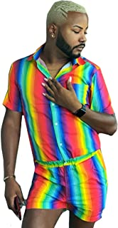 Pride Romper - Gay Pride Rainbow Male Romper