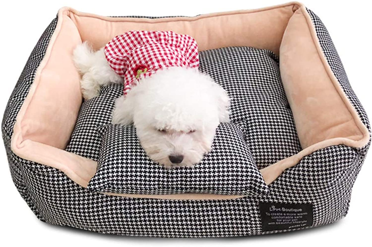 QJKai Pet nest Warm Dog nest Autumn and Winter Puppies nest Large Dog Kennel All Removable and Washable